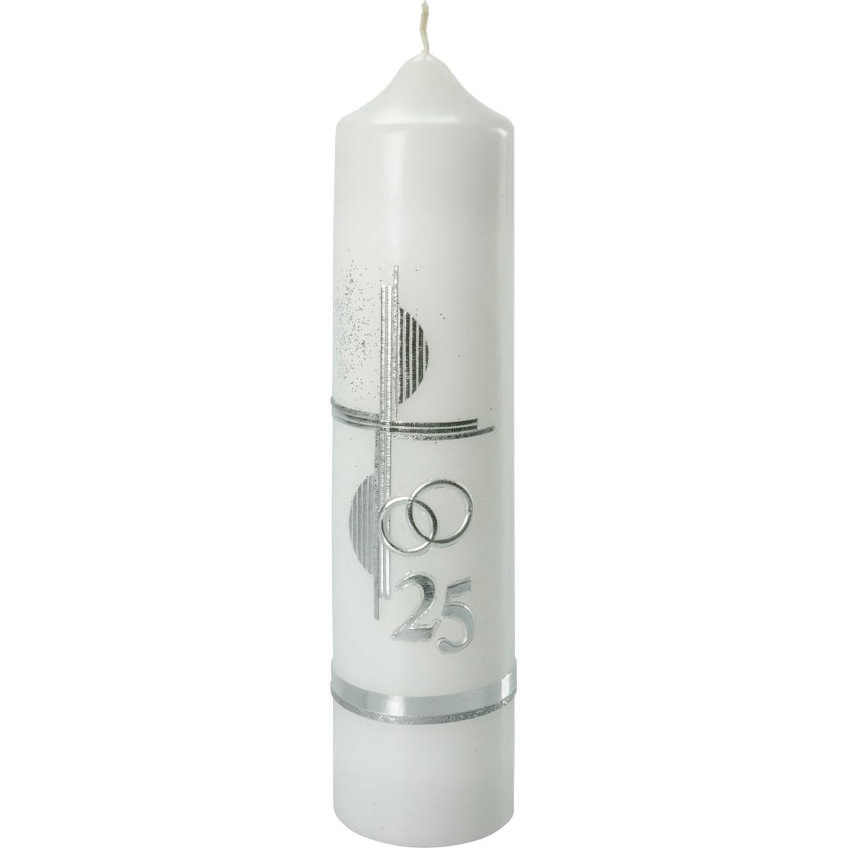 Silber-Hochzeitskerze, #951S, 265x60