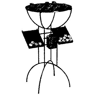 Opferlichtetisch, 40 Brennstellen, H=100cm, Ø=57cm, mit Opferstock